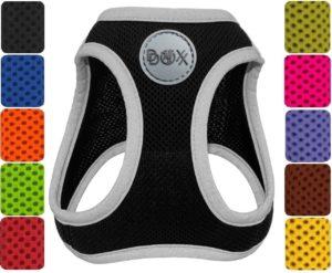 DDOXX Hundegeschirr Reflektierend Air Mesh | Step-in | für große, mittelgroße,
