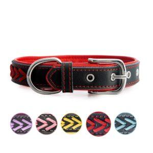 7Morning Leder Hundehalsband Halsbänder mit Name Gravur Hundemarke